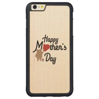 Capa Bumper Para iPhone 6 Plus De Bordo, Carved Feliz dia das mães Zg6w3