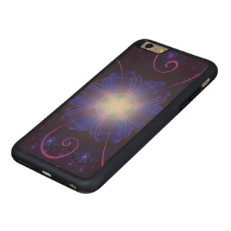 Capa Bumper Para iPhone 6 Plus De Bordo, Carved Flor ultravioleta bonita do Nightshade do Fractal
