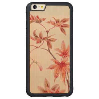 Capa Bumper Para iPhone 6 Plus De Bordo, Carved Folhas de bordo (impressão do japonês do vintage)