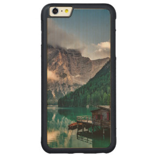 Capa Bumper Para iPhone 6 Plus De Bordo, Carved Foto italiana da paisagem do lago mountains