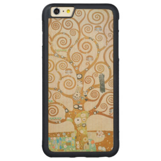 Capa Bumper Para iPhone 6 Plus De Bordo, Carved Gustavo Klimt a árvore da arte Nouveau da vida