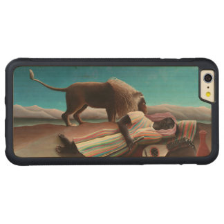 Capa Bumper Para iPhone 6 Plus De Bordo, Carved Henri Rousseau o vintage aciganado do sono