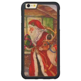 Capa Bumper Para iPhone 6 Plus De Bordo, Carved Ilustração de Papai Noel - ilustrações do Natal