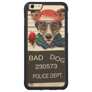 Capa Bumper Para iPhone 6 Plus De Bordo, Carved Jaque engraçado russell, cão do Mugshot