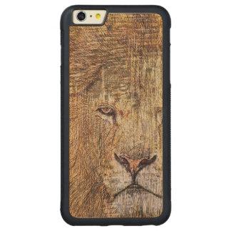 Capa Bumper Para iPhone 6 Plus De Bordo, Carved Leão majestoso dos animais selvagens animais do