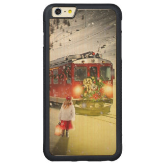 Capa Bumper Para iPhone 6 Plus De Bordo, Carved O papai noel expresso do Pólo Norte - trem do