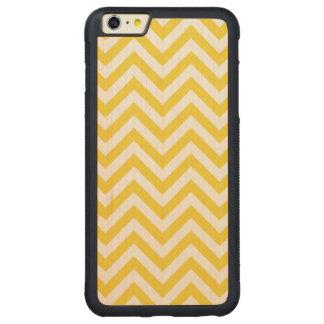 Capa Bumper Para iPhone 6 Plus De Bordo, Carved O ziguezague amarelo e branco listra o teste