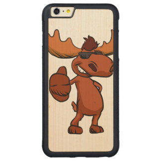 Capa Bumper Para iPhone 6 Plus De Bordo, Carved Ondulação bonito dos desenhos animados dos alces