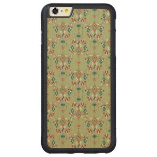 Capa Bumper Para iPhone 6 Plus De Bordo, Carved Ornamento asteca tribal étnico do vintage