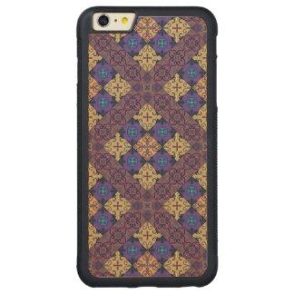 Capa Bumper Para iPhone 6 Plus De Bordo, Carved Ornamento de talavera do mosaico do vintage