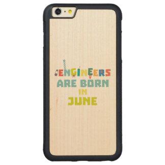Capa Bumper Para iPhone 6 Plus De Bordo, Carved Os engenheiros são em junho Zo3k7 nascidos