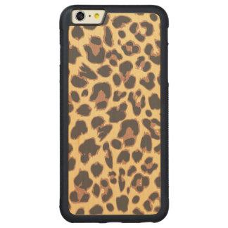 Capa Bumper Para iPhone 6 Plus De Bordo, Carved Padrões da pele animal do impressão do leopardo