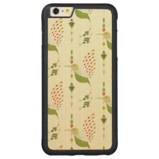 Capa Bumper Para iPhone 6 Plus De Bordo, Carved Pássaro asteca tribal étnico do vintage