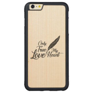 Capa Bumper Para iPhone 6 Plus De Bordo, Carved Pena verdadeira do amor da ilustração