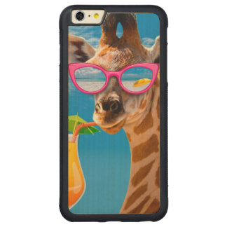 Capa Bumper Para iPhone 6 Plus De Bordo, Carved Praia do girafa - girafa engraçado