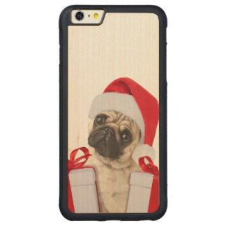 Capa Bumper Para iPhone 6 Plus De Bordo, Carved Presentes do Pug - cão claus - pugs engraçados -