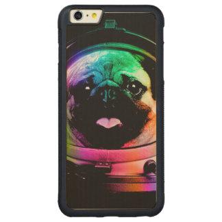 Capa Bumper Para iPhone 6 Plus De Bordo, Carved Pug do astronauta - pug da galáxia - espaço do pug
