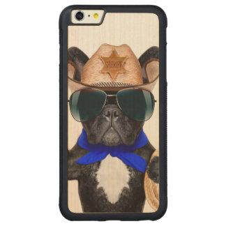 Capa Bumper Para iPhone 6 Plus De Bordo, Carved pug do vaqueiro - vaqueiro do cão