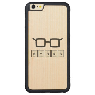 Capa Bumper Para iPhone 6 Plus De Bordo, Carved Registra os vidros Zh6zg do nerd do elemento