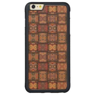 Capa Bumper Para iPhone 6 Plus De Bordo, Carved Retalhos do vintage com elementos florais da