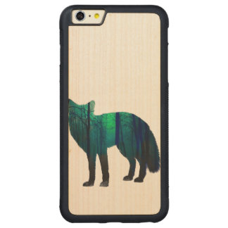 Capa Bumper Para iPhone 6 Plus De Bordo, Carved Silhueta do Fox - raposa da floresta - arte da