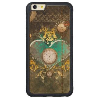 Capa Bumper Para iPhone 6 Plus De Bordo, Carved Steampunk, coração maravilhoso com pulsos de
