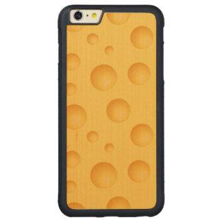 Capa Bumper Para iPhone 6 Plus De Bordo, Carved Teste padrão amarelo do queijo