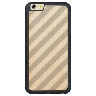 Capa Bumper Para iPhone 6 Plus De Bordo, Carved Teste padrão diagonal do cinza e o branco das