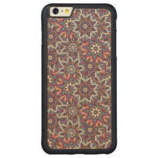 Capa Bumper Para iPhone 6 Plus De Bordo, Carved Teste padrão floral étnico abstrato colorido da