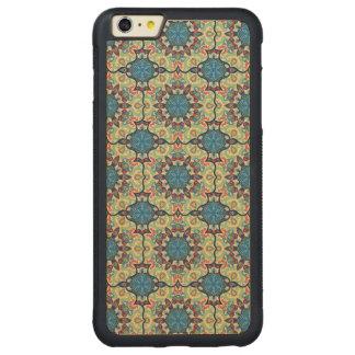 Capa Bumper Para iPhone 6 Plus De Bordo, Carved Teste padrão floral étnico abstrato colorido de da