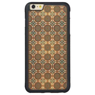 Capa Bumper Para iPhone 6 Plus De Bordo, Carved Teste padrão sem emenda retro geométrico abstrato