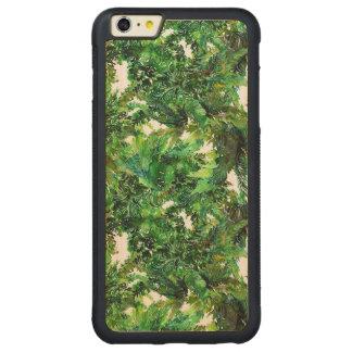 Capa Bumper Para iPhone 6 Plus De Bordo, Carved Teste padrão verde da queda da floresta da