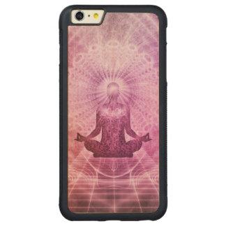 Capa Bumper Para iPhone 6 Plus De Bordo, Carved Zen espiritual da meditação da ioga colorido