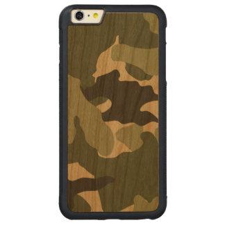 Capa Bumper Para iPhone 6 Plus De Cerejeira Carved As forças armadas verdes de Camo refrigeram o