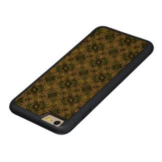 Capa Bumper Para iPhone 6 Plus De Cerejeira Carved Flores inclinadas