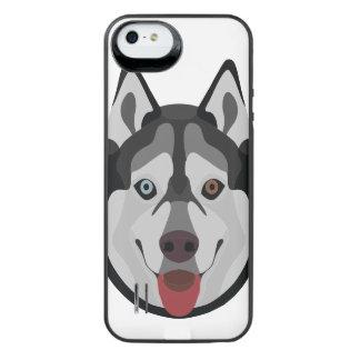 Capa Carregador Para iPhone SE/5/5s A ilustração persegue o rouco Siberian da cara