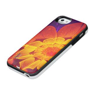Capa Carregador Para iPhone SE/5/5s Azuis marinhos, vermelho, e margarida do Gerbera