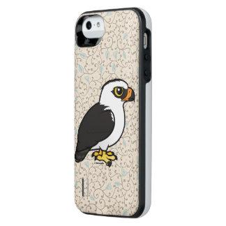 Capa Carregador Para iPhone SE/5/5s Birdorable Falcão-Eagle preto e branco