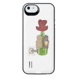 Capa Carregador Para iPhone SE/5/5s Bloco da bateria do vaqueiro da garrafa