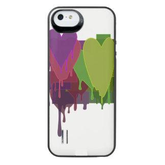 Capa Carregador Para iPhone SE/5/5s Blocos da cor que derretem corações