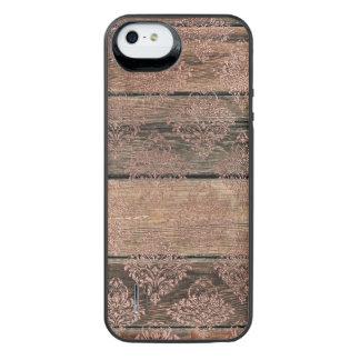 Capa Carregador Para iPhone SE/5/5s Caixa de bateria de madeira da galeria do poder do