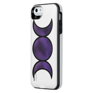 Capa Carregador Para iPhone SE/5/5s Caixa de bateria roxa do iPhone da deusa