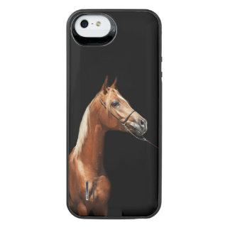 Capa Carregador Para iPhone SE/5/5s coleção do cavalo. vermelho árabe
