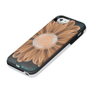 Capa Carregador Para iPhone SE/5/5s Crisântemo bonito do paraíso da laranja & do Aqua