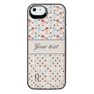 Capa Carregador Para iPhone SE/5/5s Flamingos bonitos e bolinhas