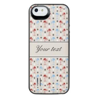 Capa Carregador Para iPhone SE/5/5s Flamingos e teste padrão de bolinhas
