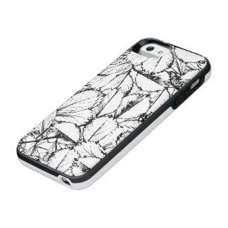Capa Carregador Para iPhone SE/5/5s Folhas do branco