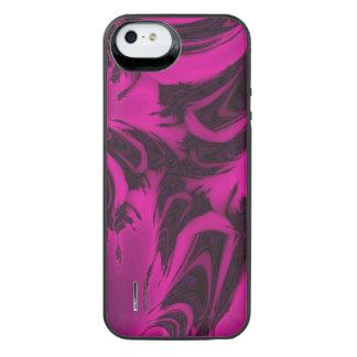 Capa Carregador Para iPhone SE/5/5s Fractal cor-de-rosa e preto