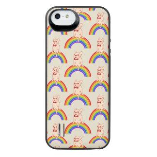 Capa Carregador Para iPhone SE/5/5s Frenchie comemora o mês do orgulho no arco-íris de