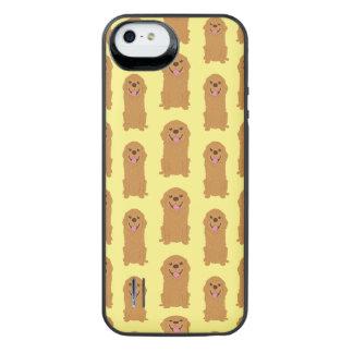 Capa Carregador Para iPhone SE/5/5s Ilustração feliz do golden retriever
